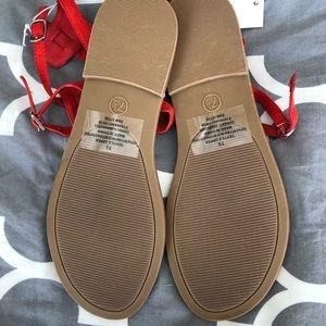 NEW Red Merona sandals.